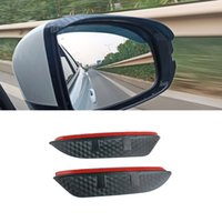 For Mercedes-Benz E-Class 2009-2021 W212 W213 2PCS Car Stickers Side Rearview Mirror Rain Eyebrow Visor Sun Shade Guard Auto Accessories