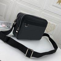 Bolsos de los hombres Bolsos de hombro Marca Messenger Bag Zipper 2021 Moda Lujos de lujo Diseñadores Bolsas Bolsas de cuero Cross Body Body Pack lleno de Tamaño de Aire Deportivo 29x21x8cm