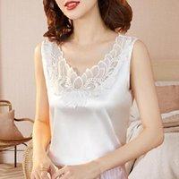 Women's Blouses & Shirts Summer Korean Fashion Silk T-shirts For Women Vintage Satin Tops Short Sleeves Plus Size XXXL Office Lady