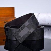 Мода 2021 двухсторонний черный синий оранжевые мужские ремни с сплавом V пряжки для мужчин CEINTURE высокого качества натуральная кожаный пояс нет коробки