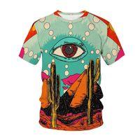 남자 티셔츠 3D 티셔츠 남성 눈 티셔츠 캐주얼 셔츠 인쇄 재미있는 재미있는 티셔츠 스트리트 셔틀 인쇄