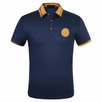 2021 Fashion Marque Classic Homme Casual Polo Chemise Medusas T-shirt Floral Brodé Sleeve Top