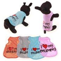 Mascota camisetas verano sólido ropa ropa ropa moda clásico camisetas algodón perros cachorro pequeño ropa Petapparel wll48