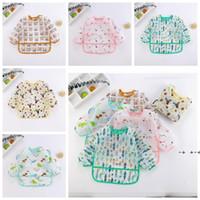 Baby Bibs Cartoon Print Burp Clothes Feeding Bib Anti-Dirty Waterproof Saliva Towel Cute Detachable Food Clothing Pinafores FWB10521