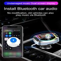 BC63 LED 백라이트 블루투스 FM 송신기 자동차 MP3 TF / U 디스크 플레이어 핸즈프리 자동차 키트 어댑터 듀얼 USB QC 3.0 + PD 빠른 충전기 # G45