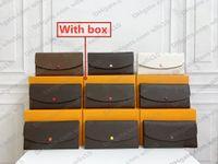 محفظة النساء جلد طويل محافظ الألوان حاملي الأزياء واحدة سستة pocke الرجال محفظة سيدة السيدات محفظة طويلة مع مربع البرتقال M60136 LB141