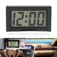 미니 자동차 시계 자동 자동차 트럭 대시 보드 시간 편리한 내구성 자기 접착 브래킷 차량 전자 디지털 시계