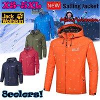 Giacche da uomo 2021 Uomini e donne all'aperto impermeabile antivento giacca con cappuccio moda jack-lupo logo riflettente coppie 268 S-5XL