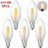 전구 5pcs / lot LED 캔들 전구 E12 Edison 램프 실내 빛 220V 360lm 샹들리에 화이트 가정 장식에 대 한 따뜻한
