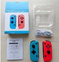 Inalámbrico Bluetooth Pro GamePad Controller Joystick para juego Juego Game Joy-con Derecha Azul Rojo Gamepod con caja de venta al por menor