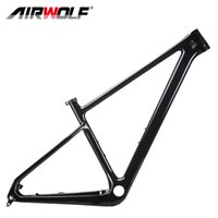 Airwolf 29er T1000 Karbon Fiber Dağ Bisikleti Boost Çerçeve MTB Bisiklet Çerçeveleri S / M / L / XL PF30 148 * 12mm XC Hardtail Frameset 2 Yıl Garanti