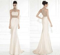 vestido de graduacion new sexy backless saree robe de soiree courte beading crystal mermaid evening long Homecoming Dresses H0916