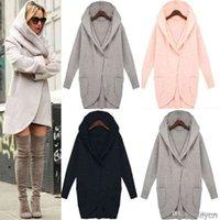 Autunm Женский пиджак мода дизайн Длинные шипы пальто куртки женские флисовые пальто для женщин с капюшоном зимняя одежда свитер стиль верхняя одежда
