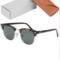 최고 품질의 클럽 3016 선글라스 남성 여성 진짜 유리 렌즈 아세테이트 프레임 51mm 크기 태양 안경 남자 여자 유리 렌즈 oculos de sol