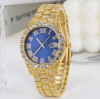 Fábrica Direct Casual Business Business con Encanto Mujeres Ver Relojes Ladies Shiny Relojes Estrellas Diamante Fecha Batería Cuarzo Número Romano Relojes Multicolor opcional