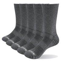 Yuege Uomo Spessore Cuscino di cotone traspirante Equipaggio Sport all'aperto Escursionismo Trekking Socks Lavoro Stivali da lavoro Socks per uomo 38-47 EU