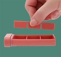 Portatile Caselle di pillola Polsino Pocket Pocket Case Holder Settimanale 6 compartimenti Medicina Pill Organizer H-0170 105 S2