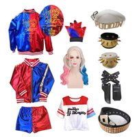 Theme Costume Halloween Harley Kids Girls Cosplay Costumes Quinn Monster Jacket T-Shirt Sets Christmas New Year Party Clothes