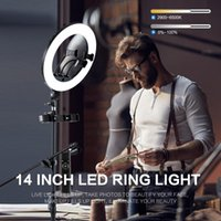 Vanity Lights 10in LED Selfie Ring Light Pography RingLight Phone Stand Holder Tripod Circle Fill Dimmable Lamp Trepied Makeup