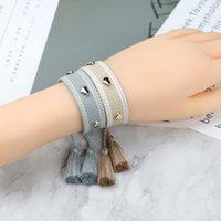 Heart Braided Friendship Bracelet For Women Handmade Rope Bracelet Embroidery Tassel Vintage jewelry Christmas Gift