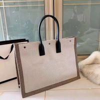 Paris Designer Design Design classico di alta qualità New Ladies borse moda retrò stile nazionale in tela di grande capacità shopping bag.
