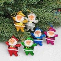 """الحديثة عطلة حزب الديكور 2 """"مصغرة جميلة سانتا الرئيسية خلفية شجرة عيد الميلاد قلادة بالجملة"""