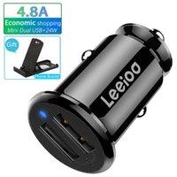 4.8a Мини-автомобиль двойное USB-зарядное устройство адаптер 24W автоматический быстрый зарядки 2 порт для планшета камеры цифры GPS Samsung iPhone 11 x 8 7 6