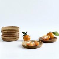 Деревянные круглые формы ужин тарелки мини-кондитерские блюдо экологически чистые фруктовые блюда отель кухонные украшения посуда тарелка GWE9257