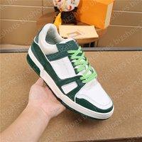Dolaşık Paten Ayakkabı Beyaz Siyah Yeşil Deri Kauçuk Taban Dantel-up Lüks Tasarımcılar Sneaker Düşük Üst Mans Eğlence Ayakkabı Eğitmenler Sneakers