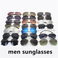 Homens polarizado dirigindo óculos de sol para mens novo moldura de metal clássico óculos protetor solar driver de piloto óculos óculos óculos