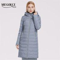 Miegofce Весна Пальто Женщины Ветрозащитный Средней длины с капюшоном Длинные Высококачественные Заполнительные Куртки Теплый Parka 210908