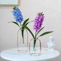 Декоративные цветы венки 1 шт. 3D Hyacinth Artifcial Шелковый цветок Дом Даффодил Пластиковые Поддельные Горшечные Украшения Свадьба Флористическая Организация