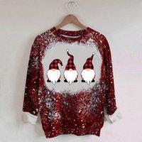 여성용 후드 스웨터 21 여성 크리스마스 인쇄 패션 긴 소매 스웨터 풀오버 탑 세련된 디자인 일일 탑스 스톡 NA