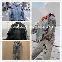 Carta de motocicleta impressão jeans jaqueta alta moda famosa bombardeiro slim windbreaker homens jean roupas