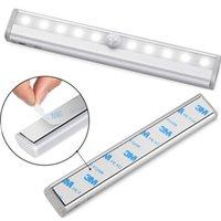 Sensor de movimento sob a luz da luz da bateria da luz do armário luzes da noite da cozinha sem fio portátil para a iluminação de emergência da cozinha do quarto interno