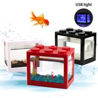 Transparente Bettta Pesish Tank Office Goldfish Fish Serbatoio Combattimento Cilindro Acquario Rumble Mini Acquario Building Block