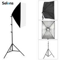 Nueva fotografía de fotografía softbox kits de iluminación 50x70cm Softbox Professional Sistema de luz continua para equipos de estudio de fotos 2M trípode