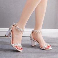 Sandals Women Silver Crystal Strap High Heel Sandal Sexy Peep Toe Steel Tube Dancing Girl Stripper Party Wedding Dress Shoes