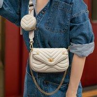 حقائب المصممين الفضلات الصغيرة بو الجلود حقيبة الكتف للنساء 2020 محفظة جديدة وحقائب اليد النسائية حقيبة crossbody السيدات