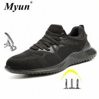 Moda de Moda Masculina Luz Confortável de Aço De Tee Anti Esmagando Sapatos de Trabalho Masculino Primavera Outono Puncture Prova Botas de Segurança L8FS #