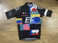 Laser Couper 2021 EF Education First Team Italia Seulement Jersey Cyclisme Jersey à manches courtes Vêtements de vélo Ropa Ciclismo