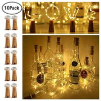 Strings 10 Pack LED Wine Bottle Cork Light Fairy Lights 2M Copper Wire Lighting String Decorative Lighted For Wedding Xmas Party