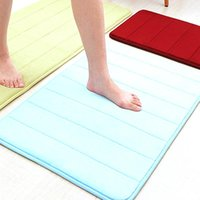 Carpets 40x60cm Water Absorbent Soft Memory Foam Mat Carpet Bathroom Bedroom Floor Rug Non Skid Shower Room