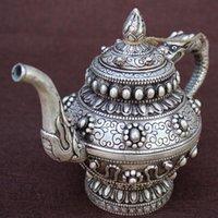 Dyansty chinois peinture d'argent peinture dragon poignée de la bête vin de thé de thé flagon