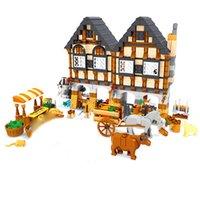 AUSINI 28001 Luxury Farm Holiday House Building Blocks Sets 884pcs Construction Bricks Boy Kids Toys