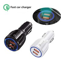 Quick Charge QC3.0 Dual 2 USB Port 3.1A Car Charger for Iphone x xr xs 11 12 13 pro max Samsung Lg android phone PC Gps