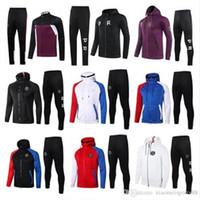 20 21 Pariser Fußball Hoodie Trainingsanzug Jacke Überleben 2020 2021 Mbappe Icardi Fußball Jacken Set Air Jordam Soccer Hooding Training Anzug