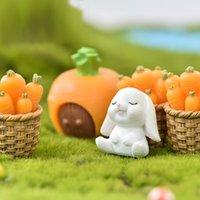 لطيف أرنب عيد الفصح مصغرة الراتنج الحرفية البسيطة الأرنب حلية الجنية حديقة لوازم المنزل تمثال حديقة الحيوان حلية DWF5161