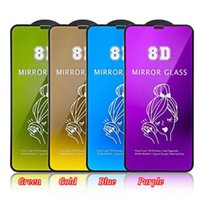 Beauty Make Up Mirror 8D Tempered Glass Cell Phone Screen Protectors for iPhone 12 11 Pro Max Mini XR XS X 8 7 6 Plus