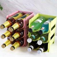 Ganchos Trilhos Building Blocks Bebidas Caixa 2 Slots Cozinha Organizador Organizador Cerveja Garrafa de Vinho Armazenamento Rack Holder Space Saving 1 Pc